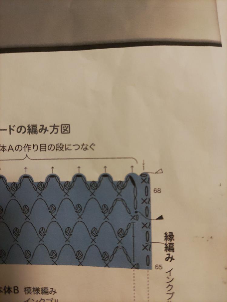 写真の縁編みの編み方を教えてください。 細編みの上に~が付いている編み方がわかりません。