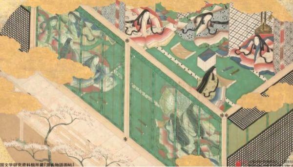 源氏物語画帖のこの絵はどのような場面を描いたものですか?源氏物語中の話の題名だけでも構いません!教えてください!