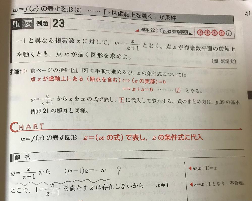 数学3の複素数平面が分かりません。青チャート重要例題23の問題です。 最初の式変形は、なぜこの形になるのでしょう?