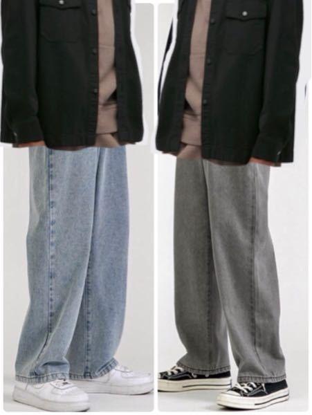 至急)どちらのジーンズがいいと思いますか? 合わせたい服の系統があるので、雑ですがコラージュしました。