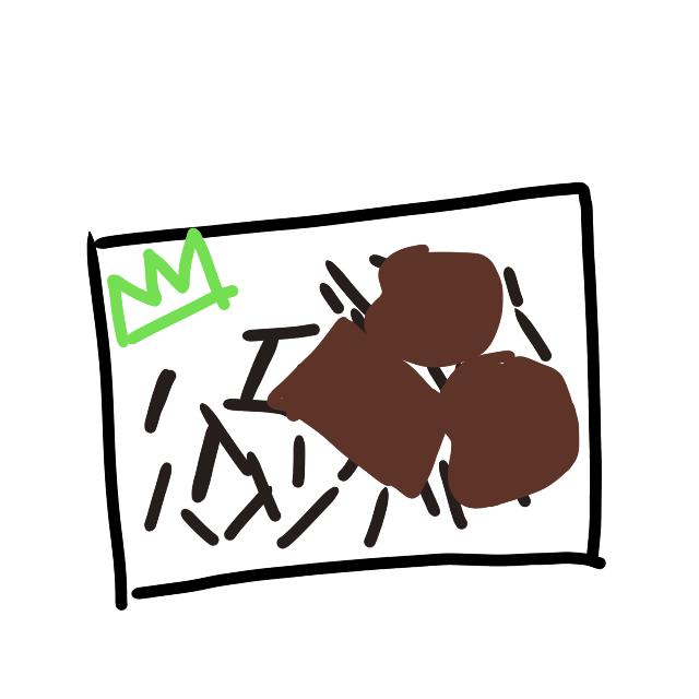 味が付いていて少し湿っている昆布みたいな物ががご飯に敷き詰められているお弁当の名前ってなんですか? 分かりずらいんですけどこんな感じです。 黒→昆布? 茶→揚げ物 上手く文字に表せなくて調べ方がわからないので知恵袋に質問してみました。