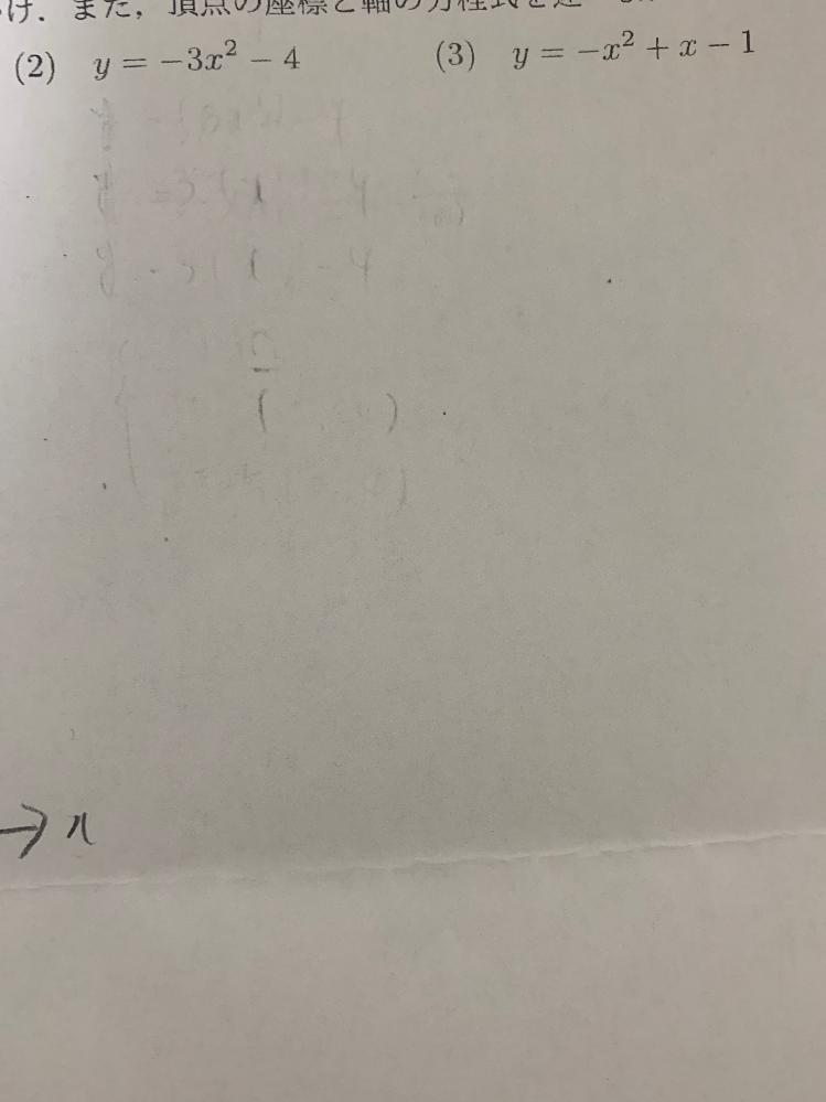 これの平方完成を教えてください。