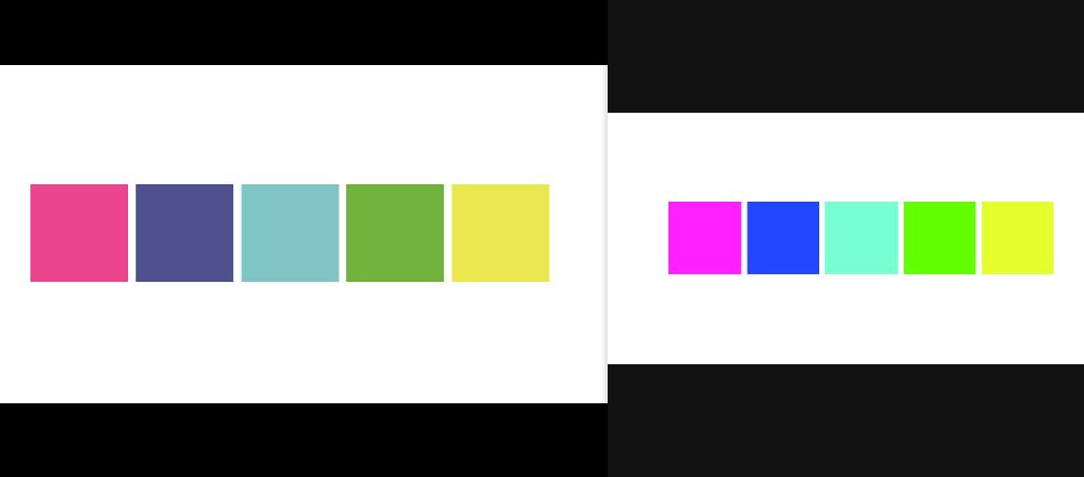 JPGデータの色の見え方がビューワーによって全く異なるのはなぜなのでしょうか? ご覧いただきありがとうございます。 illustratorでCMYKモードで制作し、JPGで保存したデータなのですが、添付のようにビューワーにより全く色味が異なって見えてしまい困っております。 左側はスカイプ、右側はLINEに添付しPC上で開いた状態です。 本来の色味としては左側のイメージなのですが、なぜLINEだと右側のような色味になってしまうのか、対処法があるのであれば教えていただけると助かります。 宜しくお願いいたします。