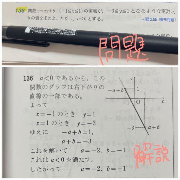 なんですぐに、 x=-1のときy=1 x=1のとにy=-3 って分かるんですか?