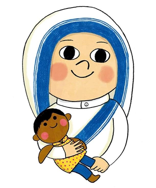 St.マザーテレサを描きました。 上手いですか?