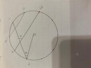 小学四年生の問題です。 点Oは、円の中心で、・は、円周を10等分しています。角度イを求める場合、並行な線をひき、求めることはできますか?