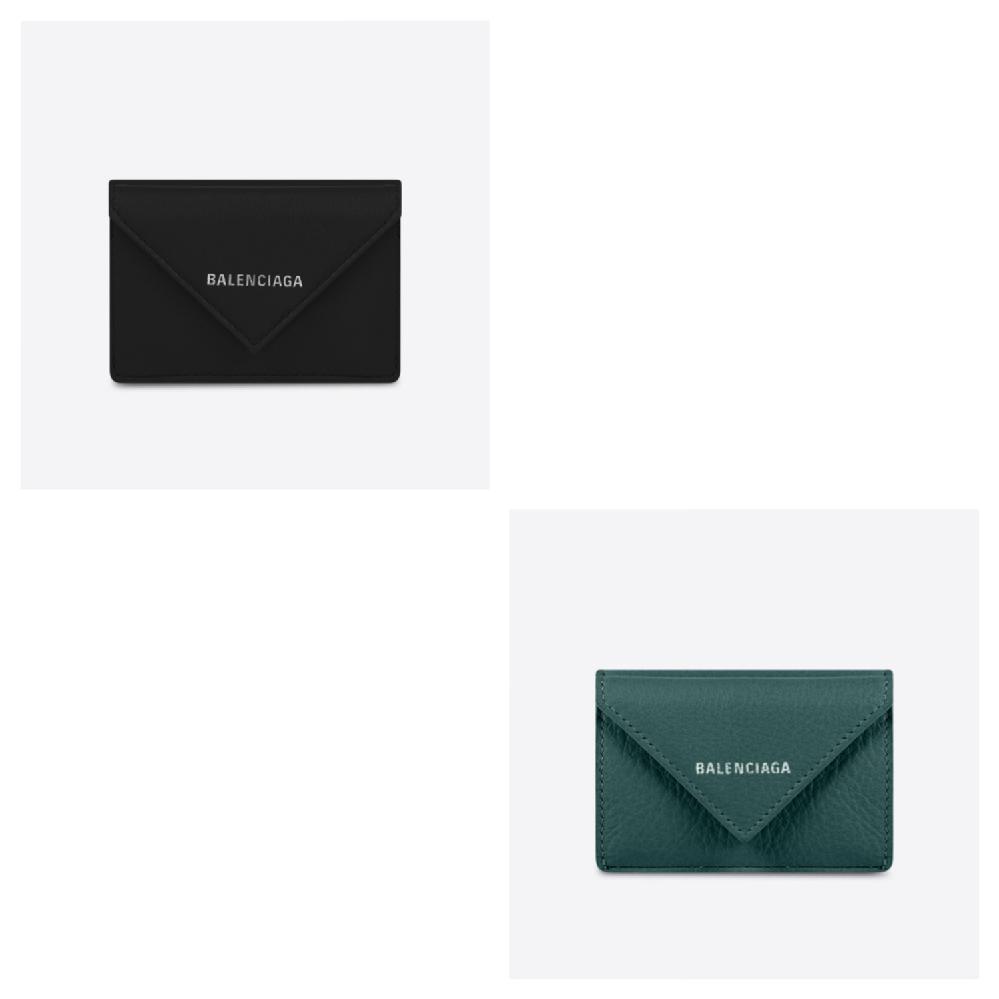 バレンシアガのペーパーミニウォレット、ブラックとグリーンどちらがいいと思いますか?