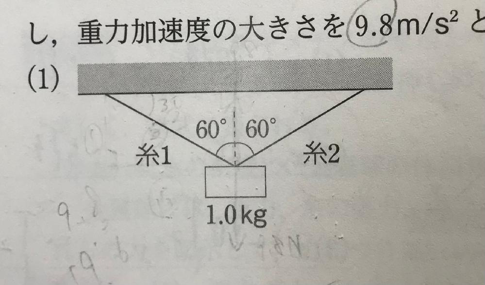 物理基礎です。 cosやsinを使わないで解ける方法を教えてください。