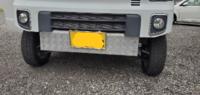 da17エブリィワゴンの車検ですがバンパーカットとアルミのスキッドバンパーはイエローハットの車検に通るでしょうか?上下折り返してます。