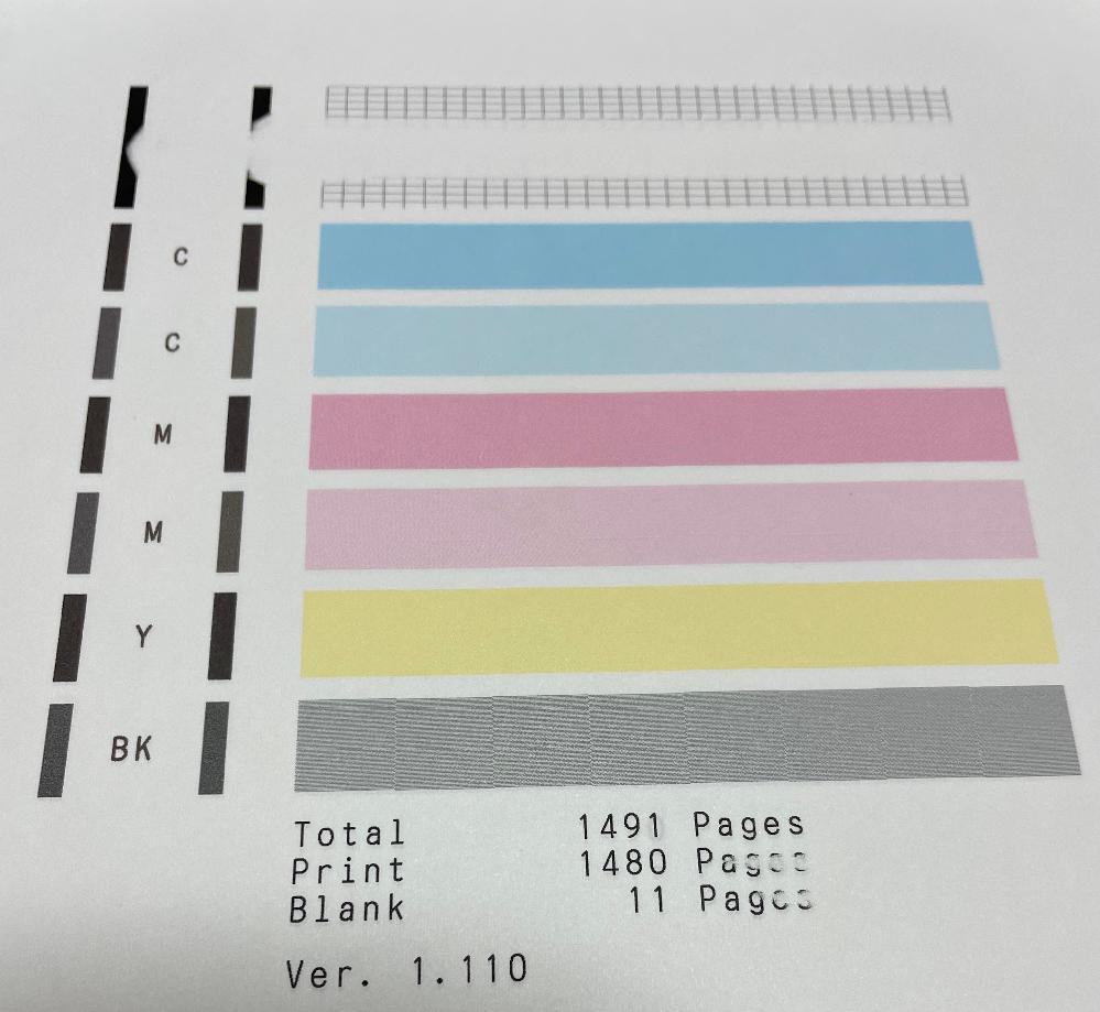 文章を普通紙にプリントしようとしたら カラーは印刷されましたが 黒が印刷されず、ノズルチェックパターンを 印刷したらPGBKの一部だけ印刷されません。 クリーニングしても改善されませんでした。 原因はなんでしょうか? canon TR8530を使用しています。