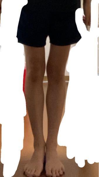 159センチです。この足だけ見ると何キロに見えますか?