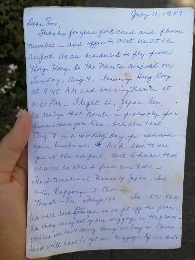 昔に頂いた手紙なんですが筆記体で書いてありいまいち読めません。翻訳お願いします!