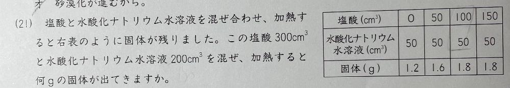 中学受験の理科です。 答えは7.2gだそうです。 なぜそうなるのか解説をお願いします!!