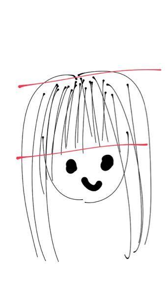 イラストのように頭が長くてヘアアレンジしても可愛くなりません。どうしたらいいですか(イラスト10秒クオリティです)