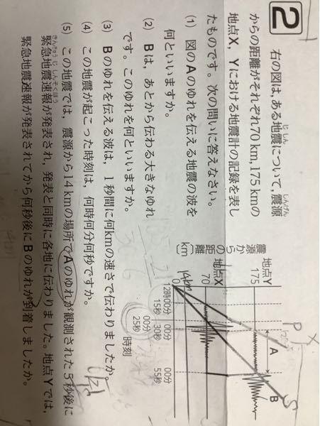 この問題がわかりません。緊急地震速報(5)です。