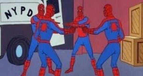 スパイダーマンのこの画像の元ネタわかるから居ますか? なんて検索すればヒットしますか?