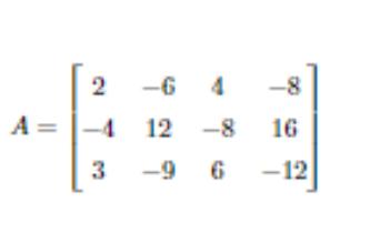 行基本変形で次の行列Aの段階(ランク)を求めよという問題です 回答お願いします。