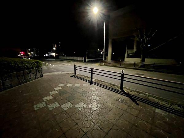 この街灯の明るさはこれでどんなもんですか?一応ナイトモードオフにしています