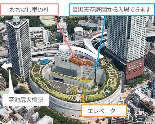 東京の大橋ジャンクションについて質問です。 ぐるぐるスロープの真ん中に建物が有りますがアレは何の建物で中はどんな風になっているのでしょうか?