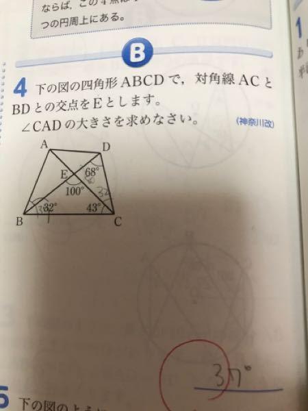 中学数学です。なぜ∠CBDと∠CADが同じ角度になるのか教えてください。