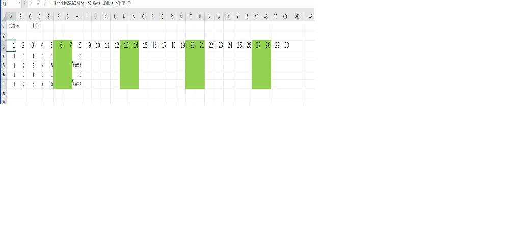 """Excelについてです。 以前質問させてもらった回答についての質問です。 A1に2021 B1に""""年""""の文字 C1に11とか10などの月数を入れます。 D1に""""月""""の文字、 A1,C1はリストにしておくと便利です。 そのうえで A3セルに =IFERROR(($A1&$B1&$C1&$D1&COLUMN(A1)&""""日"""")*1,"""""""") と、入れ、セルの書式をユーザー定義で d と設定して右にコピーします。 上記の内容で日付A1セルとC1セルを変えることで自動で日付が変わるようになり大変助かっております。 ですが数式の内容がいまいちわかっておりません。 IFERRORとCOLUMN関数での日付が自動で入力できるようになるのはどういった内容で成り立っているのでしょうか?初心ですみませんが解説等していただけると幸いです。何卒宜しくお願い致します。"""