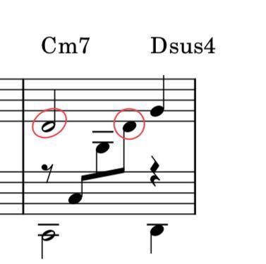 ピアノについて質問です。 赤丸で囲った音符は、右手(メロディー)、左手(伴奏)も同じ音符(レ)ですが、この場合どうやって弾くのでしょうか? 右手を離して左手でレを弾けば良いのでしょうか?