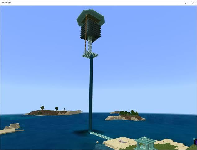 マイクラでこのように海の上にクリーパートラップ作りましたがトラップの下の海をサトウキビ畑にしても生えてきますか? トラップタワーの上に登って長時間放置という方法で火薬を集めていますがその間海の上にサトウキビ畑を作れば育っていいのでは?と思いました。 距離的に高さがあってもサトウキビは育ちますか?