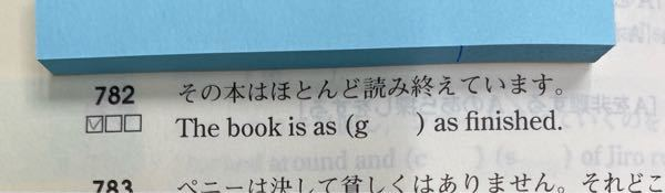 as good as finished の品詞は何ですか?