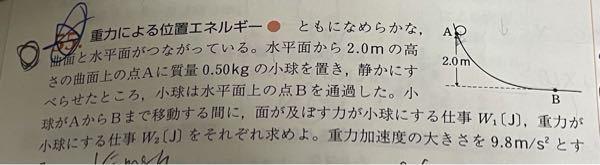 なぜw2(J)は9.8J 点Aでの位置エネルギーと同じなのでしょうか?