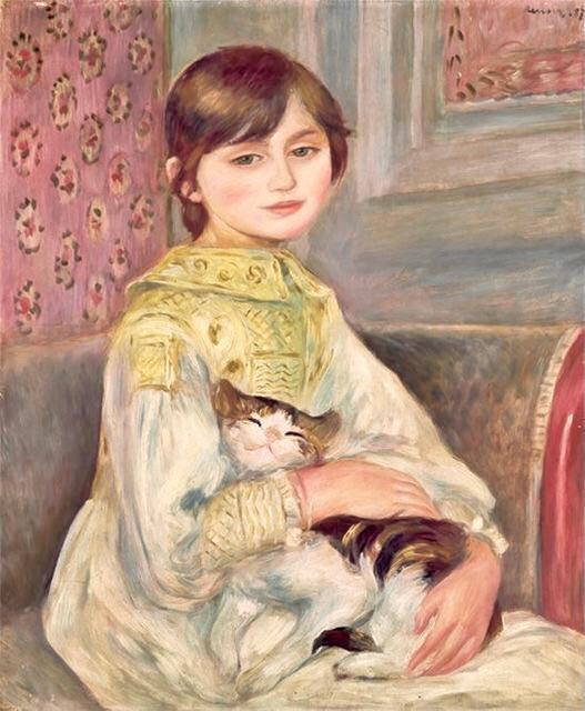 猫を抱く子 この絵の画家さんと題名を教えてください。 多分わりと有名な絵画です。