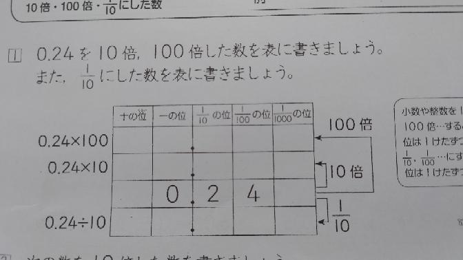 算数の小数の問題を教えて下さい。