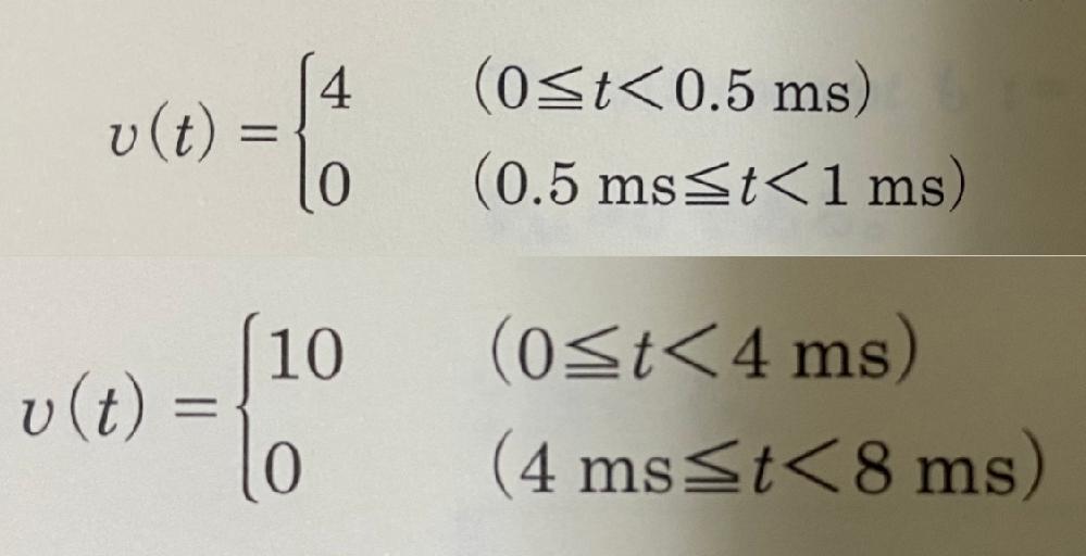 以下の二つの波形を教えてください。