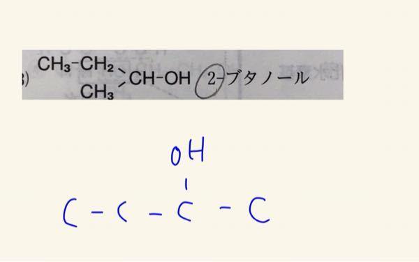 こんにちは。化学の命名法についてです。上と下の式は同じものでしょうか?詳しい方みえたらぜひ教えていただきたいです。よろしくお願いします。