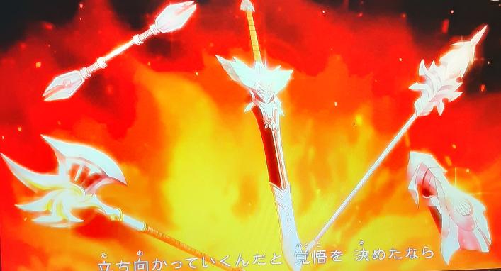 ドラクエダイの大冒険の新しいオープニングのこのシーンに映っていたこのオノと棍?みたいな武器はなんと言う名前なんですか?