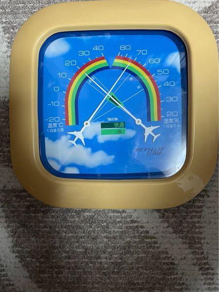 教えて下さい! 何年物ですか? 全日空健康保険組合が社員に配布した温度湿度計です。