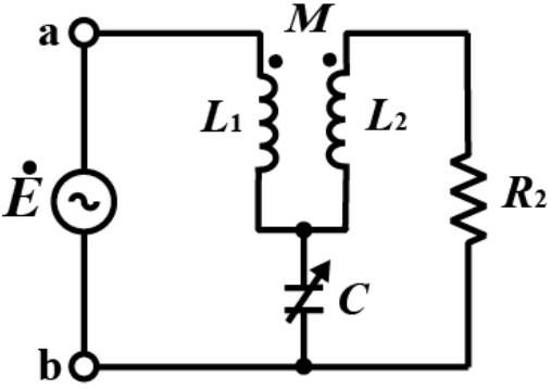 図のキャンベル(Campbell)ブリッジ回路について、閉路方程式をたてなさい。 Mを可変にして、R₂の電流を0とすれば、このときのMの値から、交流の角周波数が測定できる。 角周波数ωを求める式を誘導しなさい。