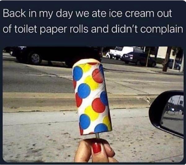 アメリカでは「昔はトイレットペーパーの芯に詰めたアイスクリームを食べてた」というのが懐かしいあるあるネタのようですが、どういう事ですか?