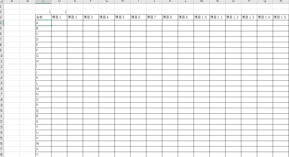 VBAで質問です。 セル(2,3)に1の値が入るとセル(4,3)を選択、2の値が入るとセル(5,3)・・・・(32、3)まであります。 さらに、セル(3,3)に1の値が入るとセル(4,4)を選択...