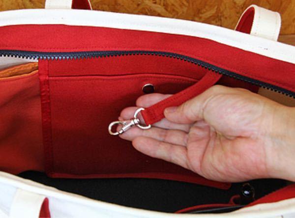 バッグの中にあるフック?は何のためにあるのですか?