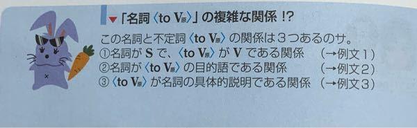 参考書に不定詞の形容詞的用法のところで 名詞〈to V原〉には3つの関係があると書いてあるんですが これは3つそれぞれどう違うのですか?詳しく教えてください またこの3つを判断することは重要ですか?