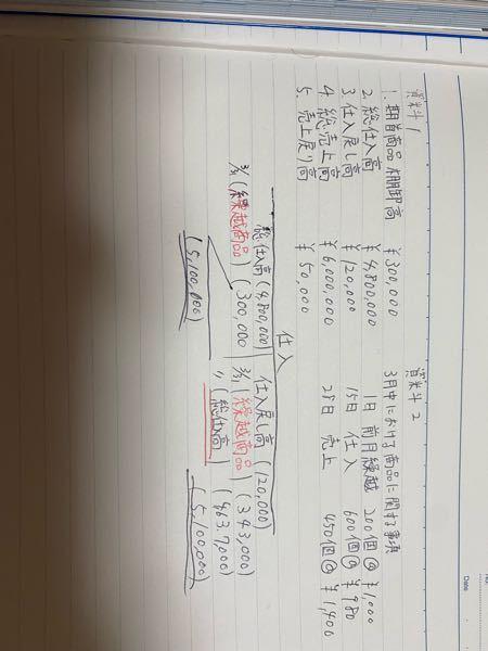 簿記3級 独学 勘定記入 写真の仕入勘定の記入の仕方がわかりません。 具体的には、赤文字と赤の二重線に『繰越勘定』と『総仕入高』という言葉が入る理由がわかりません。 左は前期繰越という意味の在庫のことですか? 右が期末の繰越商品という意味ですか? なぜ、左に前期繰越、右に期末が来るんでしょうか? またこの問題では損益勘定への振替仕訳を考える必要はありますか? 解説を見るだけだといまいち理解できないので教えて欲しいです。