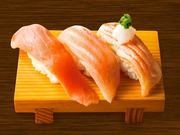 寿司を3貫選ぶならば何にしますか?