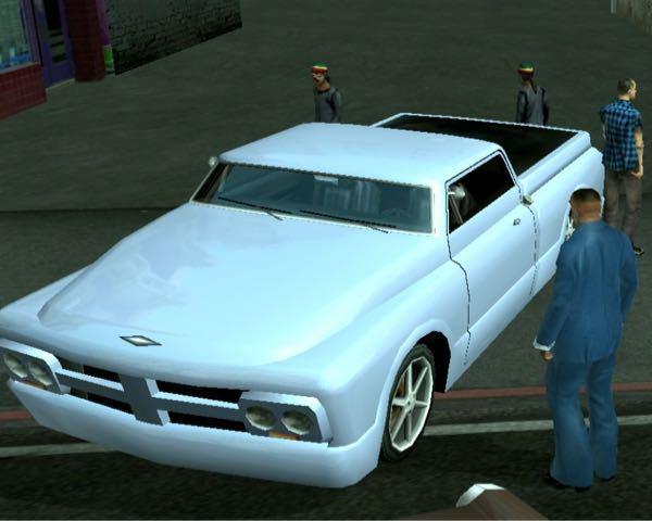 GTA SAで知らない車がありました 画像の車について知っていたら教えてほしいです 車の一覧を調べても分かりませんでした