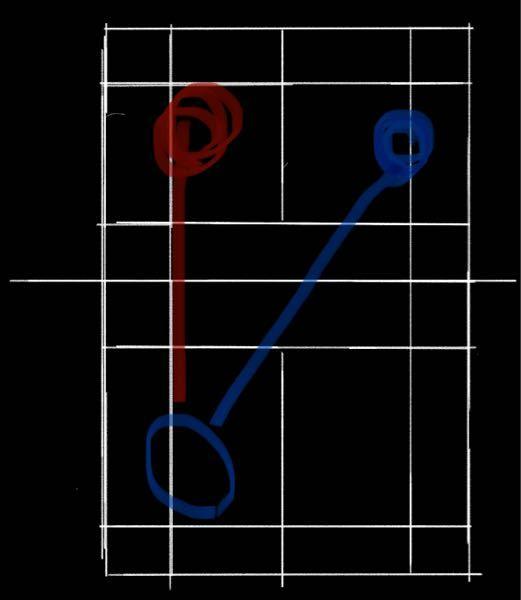 ※絵が下手ですがすみません バドミントンで、ラウンドで青い丸方向に鋭い玉は打てるのですが、赤い丸のコースになかなか打てなくて、YouTubeなどで上手い人のプレーを見ていてもラウンドで赤い丸のコースに強く打っている人が多いので自分もそこに打ちたいんですけど、全然赤い丸のコースに打てないので、コツなどを教えていただきたいです。 ※文字に起こすのが苦手で読みづらいと思いますがご了承ください