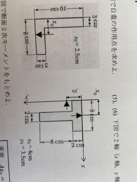 構造力学の問題です。 添付した問題が教科書に載っていないので分かる方いたら解説お願いします。 L型T型です。