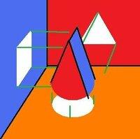【さんすう】 この図形の名称を 教えてください(三角錐・・円錐・・四角錐・・・。??) 三角錐でも、円錐でも、四角錐でもないことは分かるのですが、なんと言ったらよいのか分からないものがあります。   ...