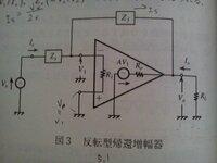 OPアンプ、反転型帰還増幅器の入力抵抗Ri、出力抵抗R0についてです。 添付画像の回路で、 閉ループ電圧利得をAf(=V0/Vs) とすると、 Af=-(Zf/Zs)*(1/[1+{1+(Zf/Zs)+(Zf/Ri)}*{1+(R0/Rl)+(R0/Zf)}*{A-(R0/Zf)}])≒-(Zf/Zs) ・・・ (A>>1) になるのということですが、  入出力抵抗R...