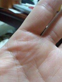 左人差し指の下に、ソロモン環のような、線が出てきました。   ソロモン環であるならば、これから運が開けて行く…  と言うことでしょうか??(>_<)