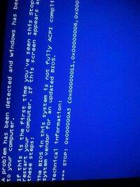 ブルー画面になりました。 パソコンはインスパイロン531です。 OSはビスタ。 時刻の同期ができなかったりウィンドウズアップーデータでダウンロードができなかったり 色々と不都合があったのですが、カーソル...
