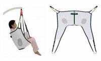 スリングシート(福祉用具)をリフトで吊り上げた場合・・・ この画像のスリングシートをリフトで吊り上げた場合、取っ手(緑の部分)を掴んでいなくても問題ないのでしょうか?